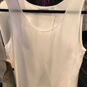 Women's Large NY&co sheer tapered tank top